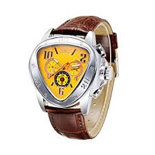 <b>WINNER Men</b> Mechanical <b>Watch</b> Semi-Automatic Leather Strap ...