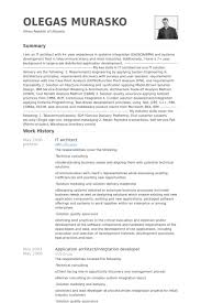 it architect resume samples   visualcv resume samples databaseit architect resume samples