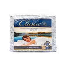 <b>Одеяло Classic by T</b> Пуше хлопок-тик 140х200 см белый/серый ...