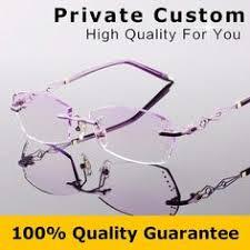 Fashion <b>Eyeglasses</b> B002 <b>Diamond Trimming Cutting</b> Rimless ...
