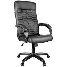 "<b>Кресло руководителя Helmi</b> HL-E80 ""Ornament"", экокожа черная ..."
