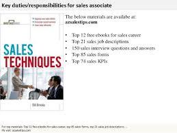 s associate    online interview    key duties responsibilities for  s associate