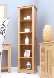 mobel oak tall narrow oak bookcase from big blu furniture baumhaus mobel oak medium