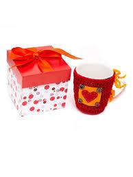 """<b>Кружка</b> вязанная """"<b>Сердце</b>"""" в подарочной коробке Добромол ..."""