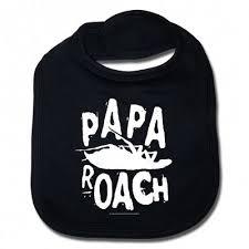 Logo/Roach | Baby Bib | <b>Papa roach</b> merch