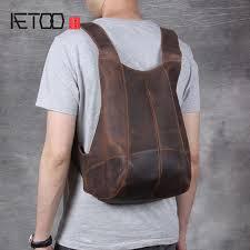 <b>AETOO</b> Handmade <b>original leather</b> men <b>bag</b> cross section <b>handbag</b> ...