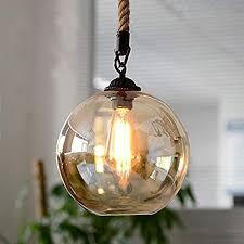 iYoee <b>Retro</b> Industrial Kitchen <b>Hemp Rope Pendant</b> Lights Antique ...