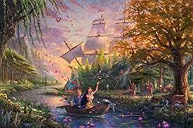 Ceaco <b>Thomas Kinkade</b> The Disney Collection <b>Pocahontas</b> Jigsaw ...