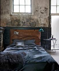 industrial bedroom vintage style alongside old wall themes with old windows and single bed blue vintage style bedroom