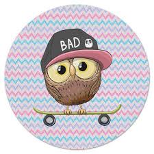 Коврик для мышки (круглый) <b>Сова и скейт</b> #2337446 от ZoZo