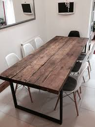 quality small dining table designs furniture dut: here is our   seater dining table made from reclaimed timber and steel the
