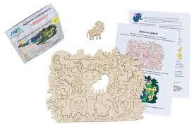 <b>Деревянная игрушка МУМ</b> мозаика-раскраска Африка ...
