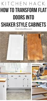 kitchen cabinet door trim: with this kitchen hack you will be able to transform your flat doors into shaker style