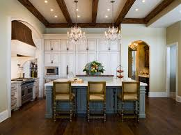 images country french kitchens  french country kitchen with island and chandeliers above