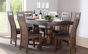 delivery dorset natural real oak dining set: custom delivery rustic real oak dining set ft quot extending table with scroll back plain