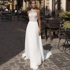 <b>Eightree</b> Classical Wedding Dresses With Pocket Lace Satin High ...