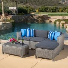 patio couch set outdoor puerta  piece wicker l shaped sectional sofa set with cushions by christopher