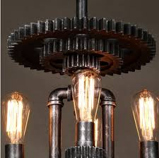 loft style water pipe creative mechanical gear edison pendant lights fixtures hanging lamp vintage industrial lighting antique industrial lighting fixtures