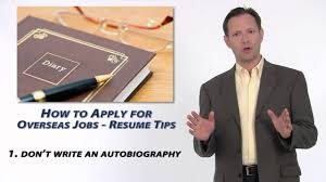 how to apply for an overseas job resume tips how to apply for an overseas job resume tips