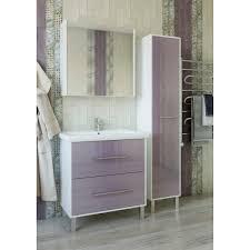 <b>Тумба</b> под раковину <b>напольная</b> «Экко» 80 см цвет фиолетовый в ...