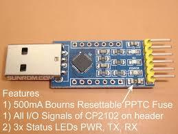 <b>USB</b>-<b>TTL UART</b> Module - CP2102 [4313] : Sunrom Electronics ...