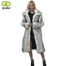 <b>GOPLUS Spring Winter</b> Womens Faux Fur Coat Long Jacket <b>2019</b> ...