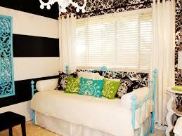 room elegant wallpaper bedroom: eclectic black and white bedroom with damask wallpaper hgtv inside the elegant teens room gold intended for your home