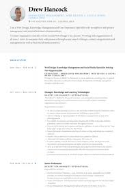 web design knowledge management and social media specialist seeking new opportunities resume samples web design resume example