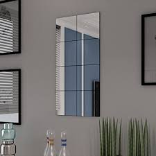 INLIFE Frameless Mirror Tiles Glass 8 pcs 8.1