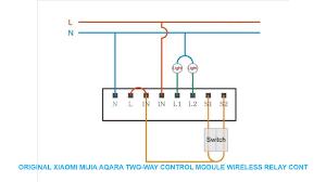 Original Xiaomi Mijia <b>Aqara Two</b>-<b>way</b> control <b>module</b> Wireless Relay ...