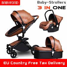 2019 new style baby stroller 3 in 1 baby car folding baby stroller ...