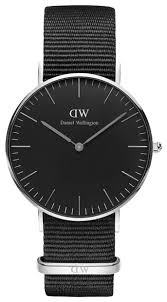 <b>Наручные часы</b> Daniel Wellington Classic Black Cornwall Lady <b>Silver</b>