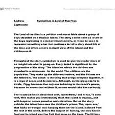 lord of the flies symbolism essay thesis   essay topicslord of the flies symbolism essay questions pic morehd image