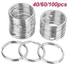40/60/<b>100pcs</b> Silver <b>Key Chains</b> Rings 25MM <b>Split</b> Key Ring Hoop ...