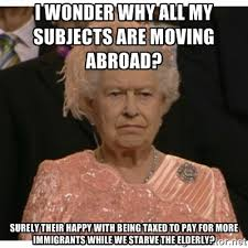 I wonder why all my subjects are moving abroad? surely their happy ... via Relatably.com