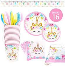 BleuZoo Unicorn Party Supplies - Girls Birthday ... - Amazon.com