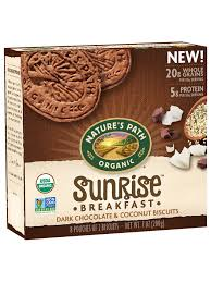 <b>Sunrise</b>® Dark Chocolate & Coconut <b>Breakfast</b> Biscuits - Nature's Path
