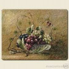 grapes grape themed kitchen rug: new large grape cutting board kitchen decor fruit glass grapevine tuscan accent ebay