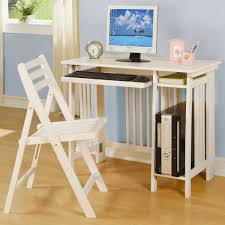 small home office idea with white minimal modular desk components idea with computer set and white office desk components