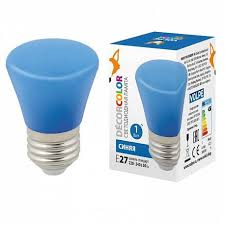 (UL-00005639) <b>Volpe E27 1W</b> синяя матовая <b>LED</b>-<b>D45</b>-<b>1W</b>/BLUE ...