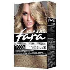 Крем-<b>краска для волос Fara</b> 528 пепельно-русый | Магнит Косметик