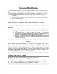 samples of summary of qualifications brief resume example summary summary of qualifications examples for resume example of summary of qualifications on resume for entry level