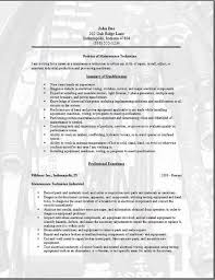 maintenance technician resume  occupational examples  samples free    maintenance technician resume  occupational examples  samples free edit   word
