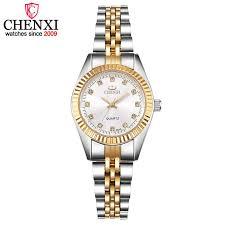 CHENXI <b>Luxury</b> Couple Watch Golden <b>Fashion Stainless</b> Steel ...