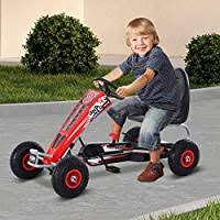 Aosom <b>Pedal Go Kart</b> Children Ride on Car Racing Style with ...