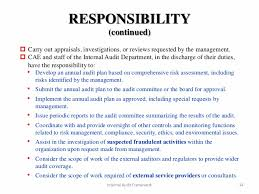 14 responsibility continued internal internal auditors job description