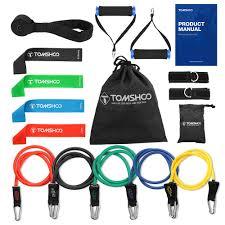 TOMSHOO <b>Resistance Band Set 17Pcs</b> Gym Strength Training ...