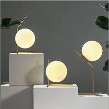 <b>Modern LED Table Lamp</b> Desk Lamp Light Shade Glass Ball Table ...