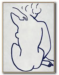 Nude & <b>Figures</b> Art | <b>Minimalist</b> Art Navy Blue + White | Big Wall Art