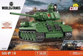 Танк Т-34 с одной фигуркой человека. COBI ... - Конструктор COBI